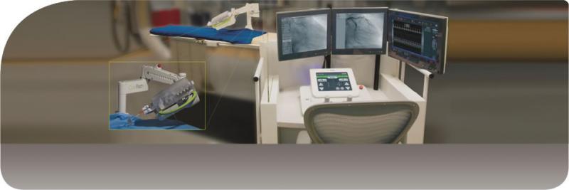 Corindus CorPath Robotic Navigation Telemedicine Telecardiology Cath Lab