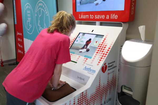100,000 Americans Learn Hands-Only CPR With AHA Training Kiosks