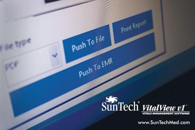 SunTech Medical, VitalView, connectivity software, VitalView software