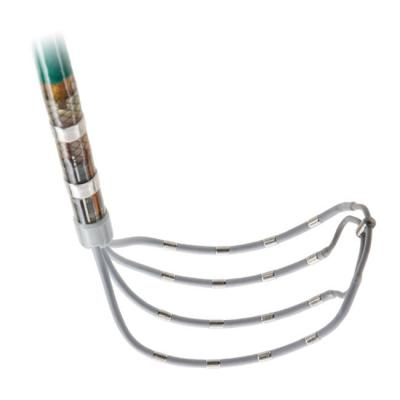 The Abbott Advisor HD Grid Mapping Catheter, Sensor Enabled, allows high density electro mapping for transcatheter EP cardiac ablation procedures.