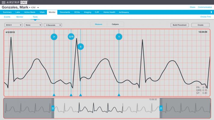 AirStrip One, ECG management, web client, U.S. clearance