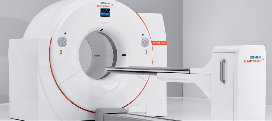 The Biograph Vision positron emission tomography/computed tomography (PET-CT) system from Siemens Healthineers.