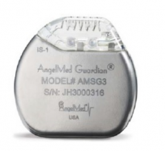 The Angel Medical Systems' AngelMed Guardian System is an implantable cardiac monitor intended to detect and alert patients of a potential heart attack.