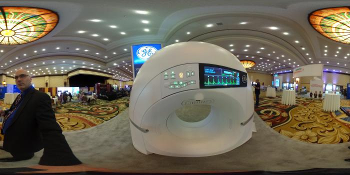 CardioGraphe dedicated cardiac CT scanner at the SCCT 2018 meeting. #SCCT2018