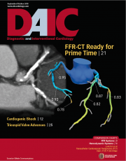 Diagnostic and Interventional Cardiology, DAIC, magazine September-October 2018 issue cover.